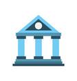 building bank financial money saving symbol vector image