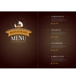 Cafe restaurant menu template identity vector image