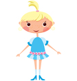 cartoon little girl eps10 contains transparent obj vector image vector image