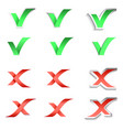 check mark stickers set vector image vector image
