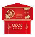chinese new year 2020 money red envelopes packet vector image vector image