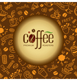 Coffee and tea background for packing vector image vector image