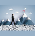 concept of leader vision and thinking business vector image vector image