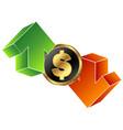 currency exchange symbol vector image vector image