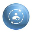 customer care icon simple style vector image
