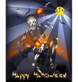 dancing skeleton vector image vector image