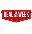 deal of the week banner design vector image vector image