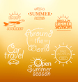 Different vacation nad travel labels logos vector image