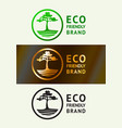 ecology friendly logo vector image vector image