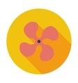 Fan single icon vector image vector image
