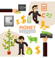 flat finance template vector image vector image