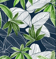 foliage seamless pattern 13 vector image vector image