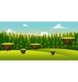 Forest and hill game background vector image vector image