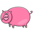 funny comic pig character cartoon vector image vector image