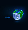 futuristic covid-19 coronavirus pandemic global vector image vector image
