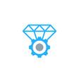 gear diamond logo icon design vector image vector image