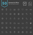 General and Office Thin Icon Set vector image vector image