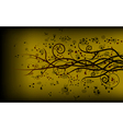 gold swirly floral background vector image vector image