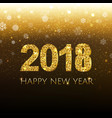 golden new year banner with snow vector image