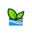 Green leaf nature organic logo