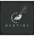 Grunge deer skull with target design template
