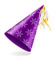 happy birthday cap with ribbon stock vector image vector image