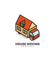 house moving service logo vector image vector image