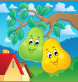 image with pear theme 2 vector image vector image
