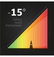 Infographics temperature chart vector image vector image