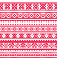 lapland traditional red folk art design sami vector image vector image