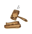 law gavel symbol vector image