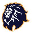 lion head logo icon mascot design vector image vector image