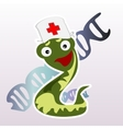 Little doctor snake on a white background vector image vector image