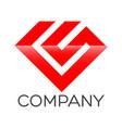 luxury cs letter logo vector image