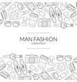 men fashion banner template with gentleman vector image vector image