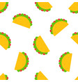national taco day festive design seamless pattern vector image vector image