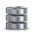 network database disc icon highly detailed vector image