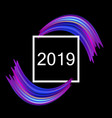 new year 2019 abstract background with colorful vector image vector image