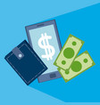 online money and transactions vector image