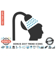 Open Mind Shower Flat Icon With 2017 Bonus Trend vector image vector image