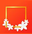 paper cut flower vector image vector image