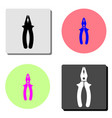 pliers flat icon vector image vector image