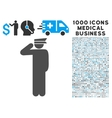 Police Officer Icon with 1000 Medical Business vector image