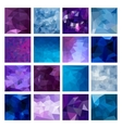 Polygonal Geometric backgrounds vector image vector image