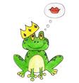 Princess frog vector image vector image