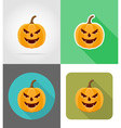 pumpkins for halloween flat icons 12 vector image vector image
