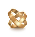 realistic detailed golden wedding rings vector image