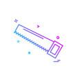 saw icon design vector image vector image