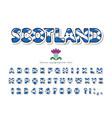 scotland font scottish national flag colors vector image vector image