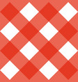 seamless sweet red background - checkered pattern vector image